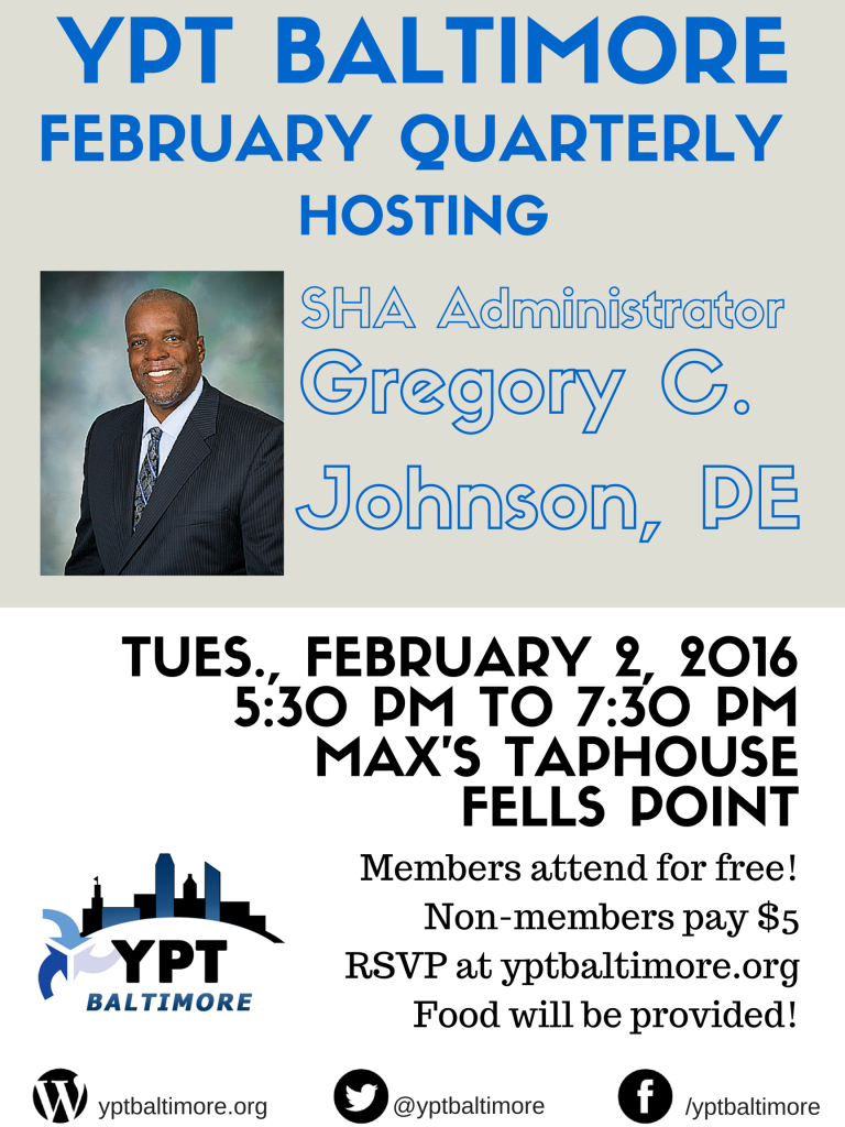 YPT Baltimore hosts SHA Administrator Gregory c. johnson